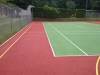 Tile Red / Light Green courts