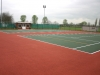Tile Red / Dark  Green painted courts